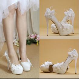 $enCountryForm.capitalKeyWord Canada - Hot! Women High heels white Wedding shoes Fine with princess Lace Bridal shoes Fashion elegant Women Wedding shoes