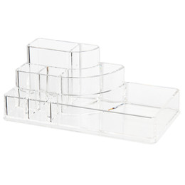 Acrylic Storage Boxes For Makeup UK - Organizer Storage Box Acrylic Cosmetic Display box for Makeup Storage transparent