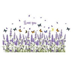 $enCountryForm.capitalKeyWord UK - New DIY Wall Sticker Lavender Wallpapers All-match Style Art Mural Waterproof Bedroom Wall Stickers Home Decor Backdrop