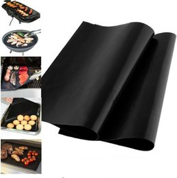 making tools 2019 - Barbecue Grilling Liner BBQ Grill Mat Portable Non stick Make Grilling Easy BBQ Grill Magic Mats Plate Baking Mats Kitch
