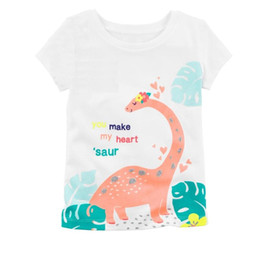 China Cheapest Dinosaur Baby Girl T-Shirts Summer Newborn Tops 100% Cotton Babies Girls Tees Shirt Clothes Infant Blouse Kids Outfits 0-2 Years suppliers