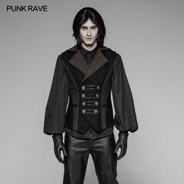 b18e490f2dd1a PUNK RAVE Mens Gothic Uniform Punk Rock Vest Top Jacket Visual Kei  Streampunk Emo Retro
