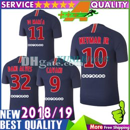 9de0acab3 NEW Thai Top Quality Di Maria Soccer Jersey 2018 2019 PASTORE Mbappe NEYMAR  JR Soccer Jerseys 18 19 CAVANI Football Shirts