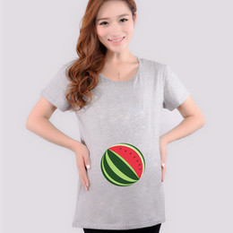 a7c87ce866e22 Funny maternity t shirts watermelon print cotton tops pregnancy tees  maternity clothes for pregnant women shirt short sleeve new