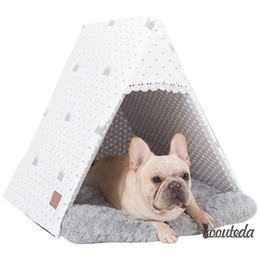 $enCountryForm.capitalKeyWord Australia - Divine Shield Latest Triangle Lace Pet Nest Cat Litter Dog House Warm Padded Kennel Mat Small Dog Pet Supplies Disassembly And Disassembly