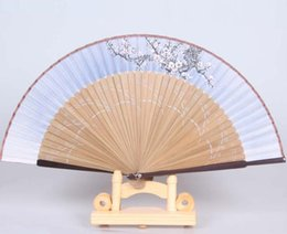 hand fans japanese NZ - High-end Japanese fans Kyoto folding fan Bridal Accessories multicolor silk and Bamboo Gift fans factory direct sale