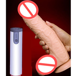 Silicone vibrating dildo Suction cup online shopping - Female Masturbator Huge Big Soft Silicone Vibrating Dildo Realistic Large Suction Cup Penis Artificial Giant Dildos For Women Adults Sex Toy