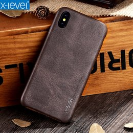 Thin Original Leather Cases For Iphone Australia - Leather Case For iPhone XS XR XS Max X-Level Original Luxury Ultra Thin Business Vintage Coque Cover Case For Apple 10 iPhone x