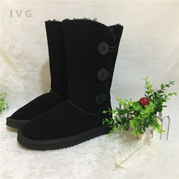 Snow bootS Size 13 online shopping - Hot Australian Style Ugs Women Buttons Snow  Boots Bailey abeb4b21b