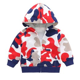 Baby Camouflage Jackets Australia - 2018 Baby Boy Jacket Camouflage Print Winter Spring Autumn Cotton Hooded Sweater Kids Jacket