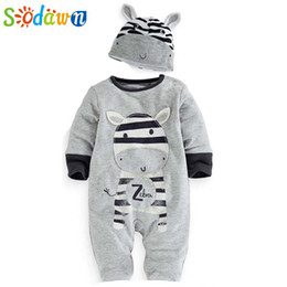 bd353d5dcfb Novelty Rompers Wholesale UK - Sodawn Baby Boys Clothes Clothing Cartoon  Zebra Newborn Hats Sets Casual