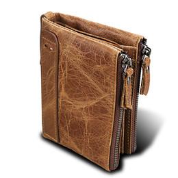 $enCountryForm.capitalKeyWord Canada - MADONNO 2018 New Arrival Retro Genuine Leather Enterprises Stylish Men's Wallet Purse Crazy Horse Leather Double real leather designer purse