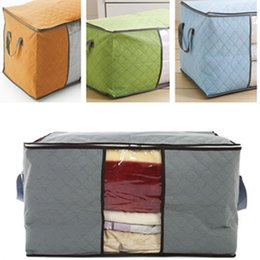 Big Storage Boxes Australia - Portable Non Woven Quilt Storage Bag Clothing Blanket Pillow Underbed Bedding Big Organizer Bags House Room Storage Boxes Buggy Bag 4 Colors