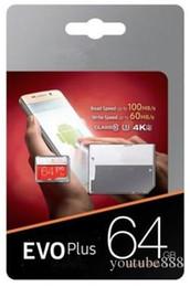 free dhl 2018 pass h2testw 100% echte 32 GB 64 GB 128 GB Micro SD Speicherkarte EVO Klasse 10 für Smartphones Kamera Galaxy Note 7 8 Sfree