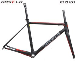 $enCountryForm.capitalKeyWord NZ - COSTELO GT ZERO 7 carbon road bike frame,fork headset clamp, seatpost Carbon Road bicycle Frame Light weight free shipping