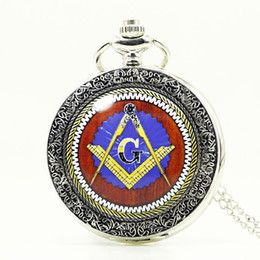 uk jewelry 2019 - Vintage UK Masonic Freemason Freemasonry Big Size Bronze Pocket Watch Fashion Jewelry PB342 cheap uk jewelry