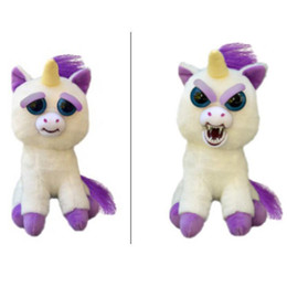 Chinese  Kids Toys Feisty Pets Plush Toy Change Face Unicorn Glenda Sammy Suckerpunch Adorable Plush Stuffed Dog Turns Squeeze Vicious Bear 20cm manufacturers