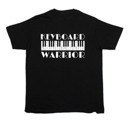 piano gifts Canada - Keyboard Warrior T-SHIRT Band Music Piano Fashion Funny Present birthday gift Youth Round Collar Customized T-Shirts top tee