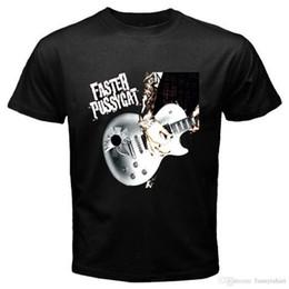 Black s guitar online shopping - Summer Style Fashion New FASTER PUSSYCAT Guitar Logo Rock Legend Men s Black T Shirt Size S XL Novelty Tee