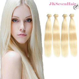 $enCountryForm.capitalKeyWord Australia - 613 Straight Brazilian Remy Human Hair Extension 4PCS Russian European Blonde Hair Weft With Wholesale Price