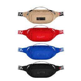Canvas denim bag online shopping - Sup SS Waist Bag th Unisex Fanny Pack Fashion Men Canvas Men Messenger Bags AW Shoulder Bag