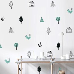 $enCountryForm.capitalKeyWord NZ - DIY Nordic style tree forest Wall Sticker Waterproof Removable Wallpaper Furniture Cabinet Vinyl Decal Kids Room Living Room Home Decoration
