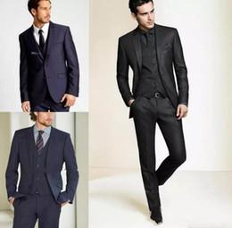 Tuxedo panTs for men online shopping - 2018 New Formal Tuxedos Suits Men Wedding Suit Slim Fit Business Groom Suit Set Tuxedo For Men Jacket Pants Custom Made