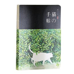 Cat notebook notepad online shopping - New Blank Vintage Sketchbook Diary Drawing Painting sheet Cute Cat Notebook Office School Supplies Gift