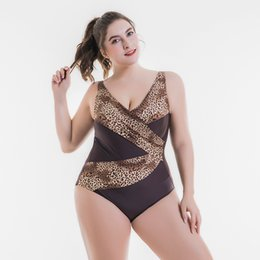 275bc530c4 New Large Big Plus Size Swimwear Women Sexy One Piece Swimsuit 2018  Slimming Female Print Retro Beach Bathing Suit Bodysuit