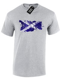 d5ce1d7c2de Scottish Rugby Shirt UK - SCOTLAND PAINT SPLASH MENS T-SHIRT FLAG FOOTBALL  RUGBY FAN