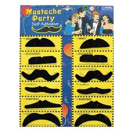 Halloween Party Decorations For Adults Australia - Halloween Party Costume Fake Mustache Moustache Funny Fake Beard Whisker Party Costume for Adult Kids