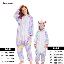 Kids Women Unicorn Pajamas Unisex Couples Onepiece Cartoon Cosplay Costume Animal  Onesie Pyjamas Adult Girls Sleepwear 653fa2a27