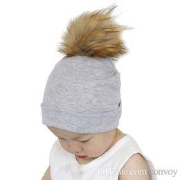 a6b9d54c1b9 Newest baby kids hats kids match wear causal hats caps children winter  autumn warm caps headging caps with top ball decor BH44