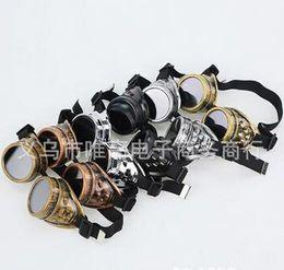 Favor de partido Unisex Estilo Vitoriano Gótico Do Vintage Steampunk Óculos de Solda Punk Gótico Óculos Cosplay venda por atacado
