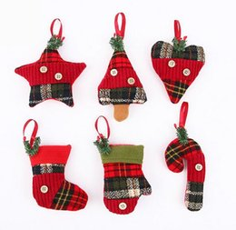 Gold Reindeer NZ - Christmas Cloth Hang Ornaments Christmas Tree Toy Dolls Decorations Santa Claus Snowman Reindeer