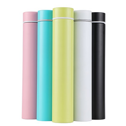 Camping rods online shopping - Anti Wolf Vacuum Straight Cup Stainless Steel Tumbler Mini Golden Hoop Rod Woman Gift Lovely Water Bottle Pure Color hr bb