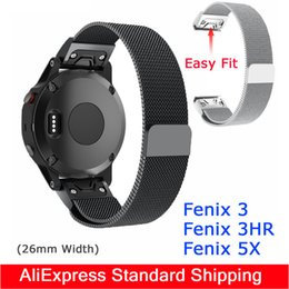 Wholesale Quick Install Easy Fit Stainless steel wristband for Garmin Fenix Fenix HR Fenix X band strap smart watch bracelet