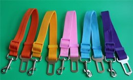 Dog Chain Seat Belt Australia - Wholesale Dog Adjustable Car Vehicle Safety Seat Belt Harness Lead for Cat Dog Pet 2.5cm seatbelt dog chain 9 Colors