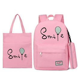 837af66368dd Discount girl backpacks for sale – HJKL 3 Set Canvas Women Backpacks  Schoolbag Fashion Letter School