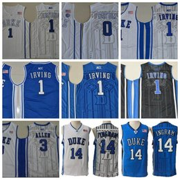 2018 Duke Blue Devils College Basketball Jersey 0 Jayson Tatum 3 Grayson  Allen Shirts 1 Kyrie Irving University Stitched Jerseys cadd93526