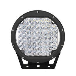 Discount trailer lights - 2pcs 225W round LED work light ARB 9in LED driving light for off road wrangler 4x4 trucks trailers dune buggy 4WD vehicl