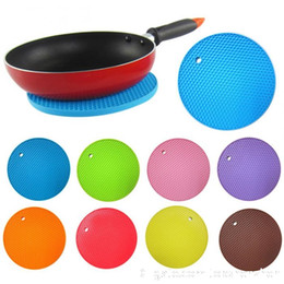 kitchen heat resistant mats Australia - Multifunctional Round Silicone Non-Slip Heat Resistant Pot silicone table mats Coaster Cushion Place Mat Pot Holder Kitchen Accessories