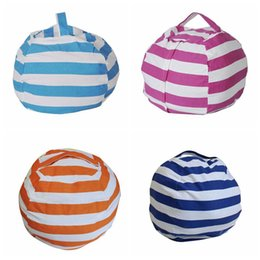 afe54ebf7df Doll beDs wholesale online shopping - Stripe Bean Bag inch Beanbag Chair  Kids Bedroom Stuffed Animal