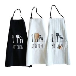 Discount man gadgets - Fashion Unisex Women Man Aprons Commercial Restaurant Home Bib Spun Poly Cotton Kitchen Aprons Kitchen gadget