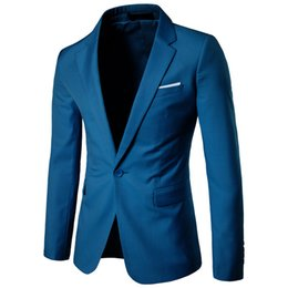 $enCountryForm.capitalKeyWord UK - Mens New Business Casual Suit Jackets Dress One Button Fashion Jacket Coat Men Clothing Male Tops 9 Colour Big Size S-6Xl