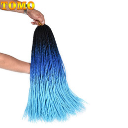 """$enCountryForm.capitalKeyWord NZ - TOMO 24"""" Long Senegalese Twist Crochet Braids 30Roots Synthetic Colored blue Brown Pink green Ombre Braiding Hair Kanekalon Hair Extensions"""