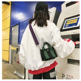 $enCountryForm.capitalKeyWord Australia - Canvas Crossbody Bags For Women 2018 Stripe Patchwork Mini Shoulder Bags Korean Version Chic Cute Messenger Handbags