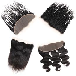 Brazilian Body wave hair Bulk online shopping - Brazilian Virgin Hair Straight Frontal Remy Human Hair Extensions Body Wave Top Lace X4 Closures Accessories Bulk Peruvian Deep Wave Hair