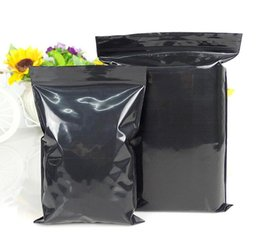 Opaque plastic bags online shopping - 100pcs opaque black ziplock bags Reclosable Plastic Poly black bag with zipper