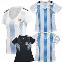 2018 2019 Argentina Women Soccer Jersey KUN AGUERO MESSI DI MARIA DYBALA 18  19 home away football Female shirts S-XL 95300348a
